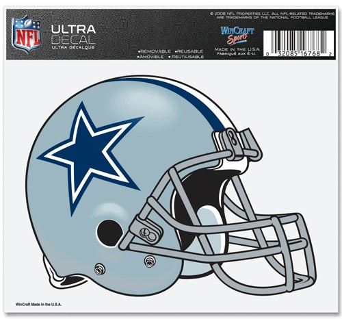 "Dallas Cowboys 5""x6"" Ultra Auto Car Decal Sticker Static Cling"