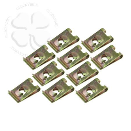 10x U Nut Fairing Clip M5 Universal GSXR CBR Clamp M5 for Machine Screws