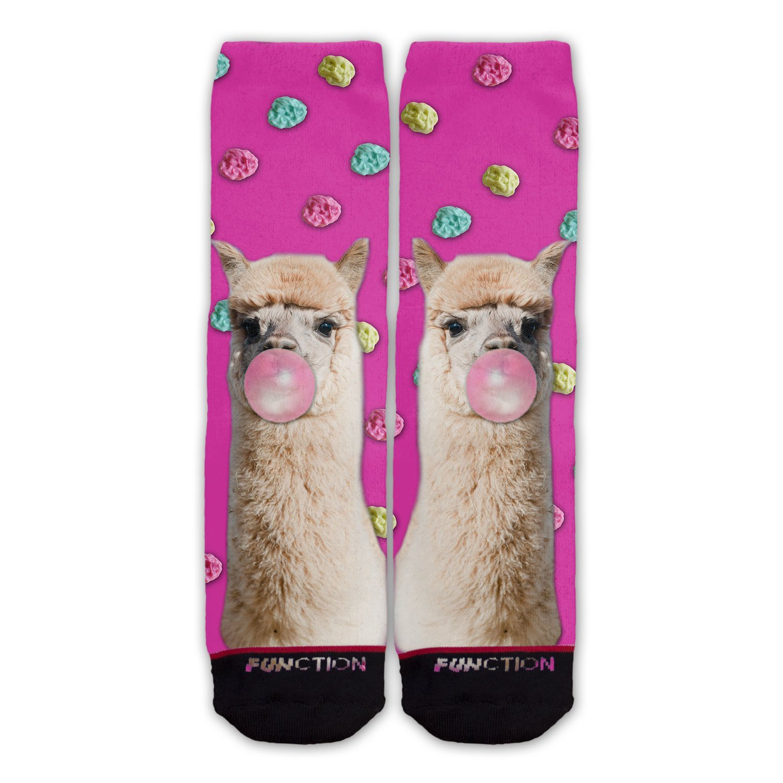 Mens Athletic Cushion Crew Sock Llama Animal Long Sock Outdoor