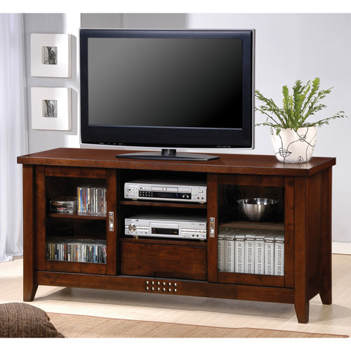 Coaster Transitional Warm/Brown TV Console for TVs up to 59""