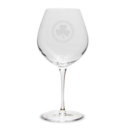 Shamrock Celtic Logo Luigi Bormioli 22 oz Titanium Robusto Wine (Robusto Gift)