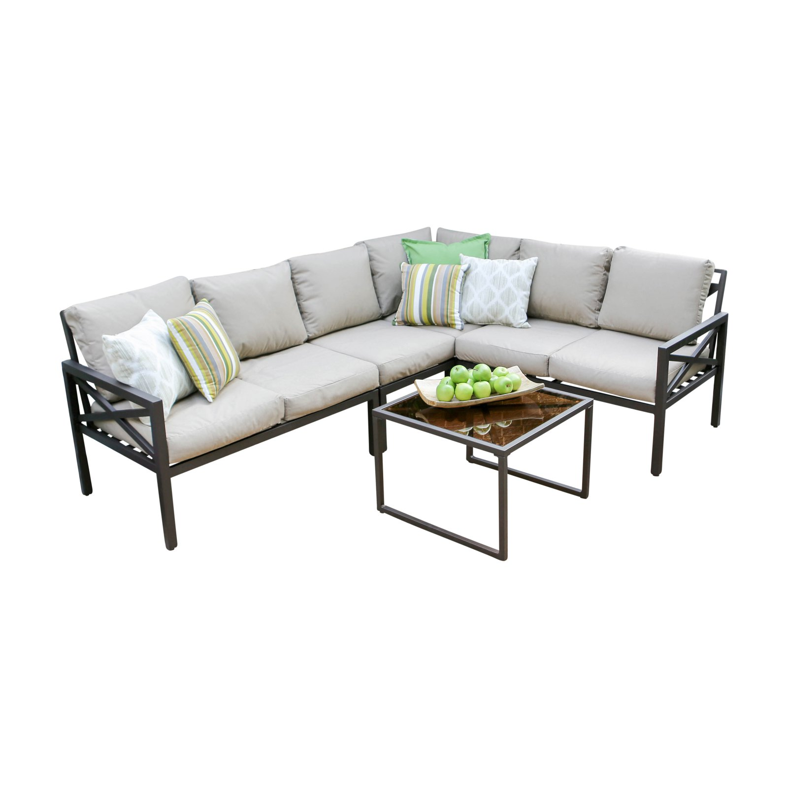 Leisure Made Blakely 5 Piece Outdoor Sectional Conversation Set