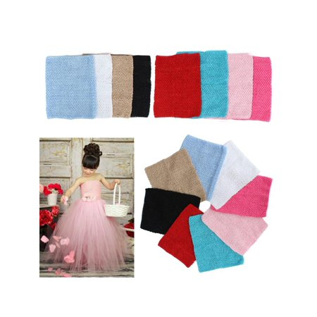 12'' Crochet Tube Top Elastic Waistband Headband Hair Band For Girls Tutu Skirt