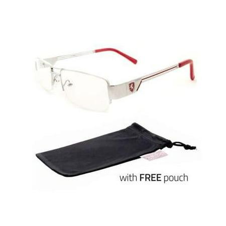Fashion Retro Unisex Mens Womens Clear Lens Nerd Geek Glasses Eyewear silr Red (Retro Geek Glasses)