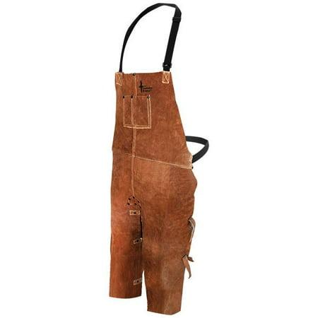 Bob Dale 60-1-642 Welding Apron Leather Split Leg Bib Apron 24x42 Brown (Pack of 20)