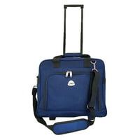 TrendyFlyer Computer Laptop Rolling Bag 2 Wheel Case Blue