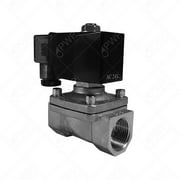 """24V 3/8"""" NPT Normally Closed Stainless Steel Viton 2-Way Solenoid Valve"""