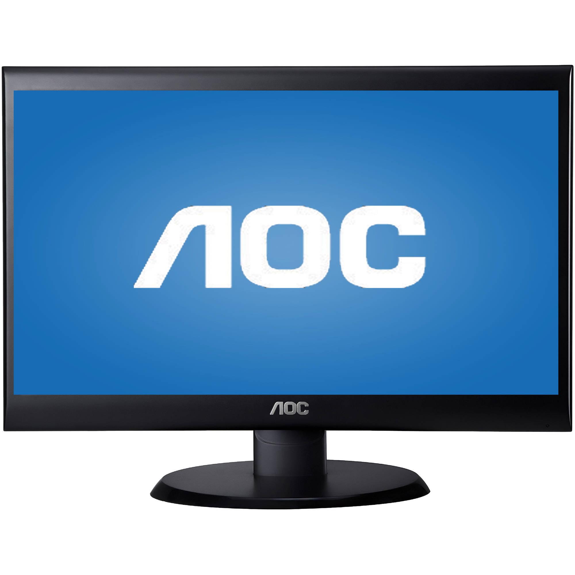 """AOC Monitor 20"""" Class 1600x900 Res VGA DVI-D E2050SWD"""