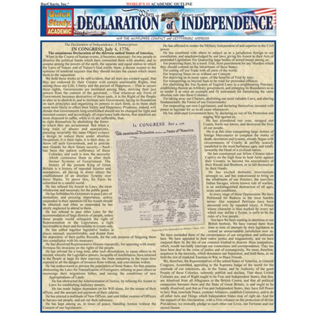 BarCharts- Inc. 9781572227675 Declaration Of Independence
