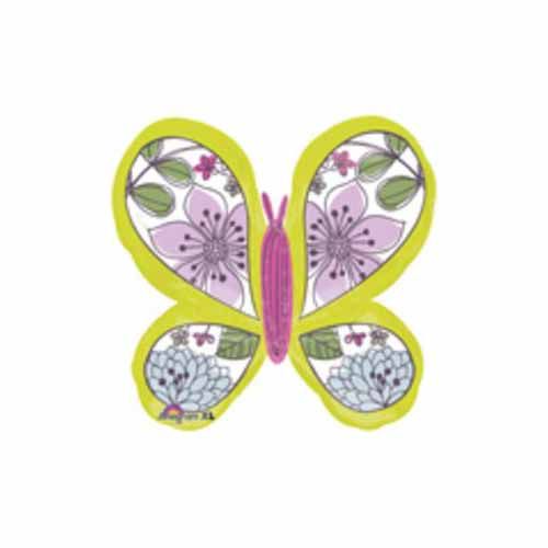 Green Floral Butterfly Balloon by US Balloon - 780739