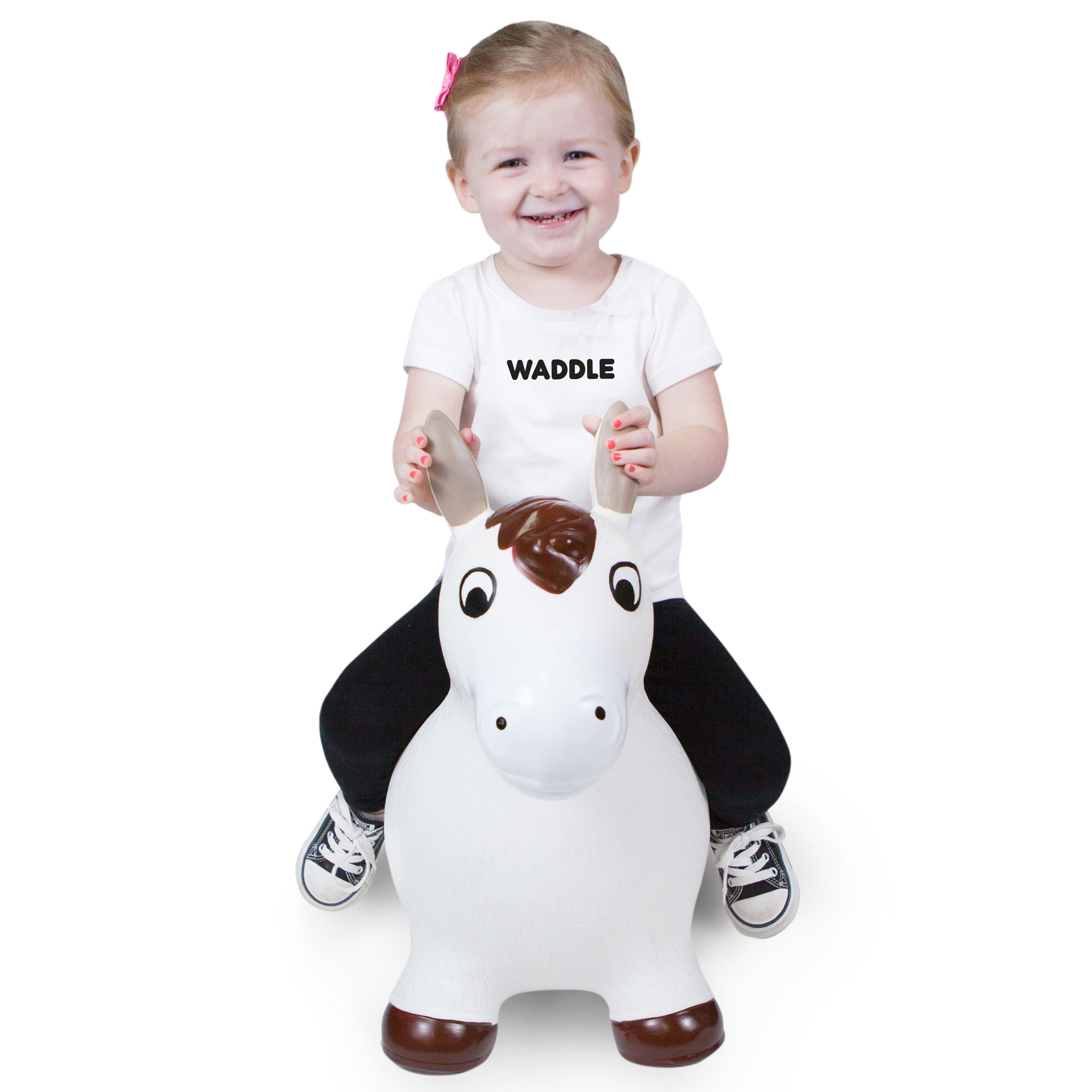 Waddle Unisex Ride On Toy Horse Bouncy | Best Kids Gift | Hopping Farm Animal Hopper |... by WADDLE