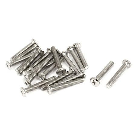 Furniture Hardware Phillips Socket Countersunk Head Screw Bolts M6x40mm 20 Pcs - image 2 of 2