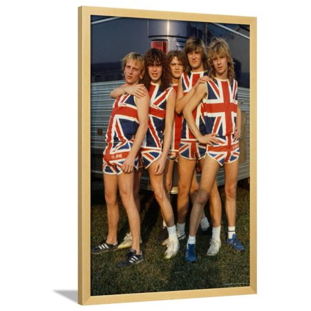 Def Leppard - Pyromania Tour 1983 Framed Poster Wall Art By Epic Rights