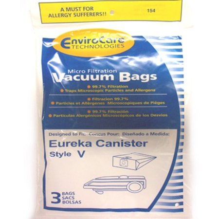 Eureka Canister Vacuum Micro Filtration Type V Paper Bags 3 Pk Part - (Filtration Paper Bags)