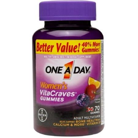 One-A-Day Femmes VitaCraves gélifiés, 70 gélifiés (pack de 4)