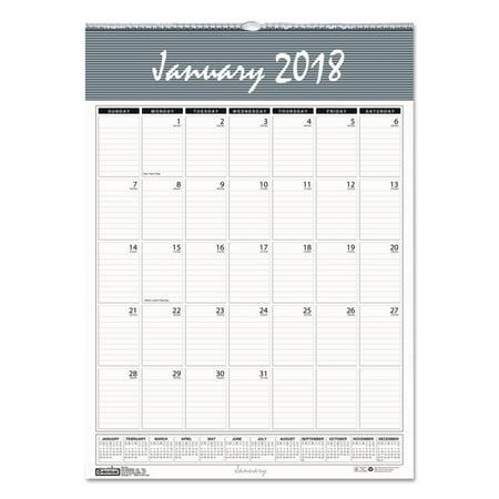 Doolittle Classic Wall Calendar - House of Doolittle Recycled Bar Harbor Wirebound Monthly Wall Calendar, 8 1/2 x 11, 2018