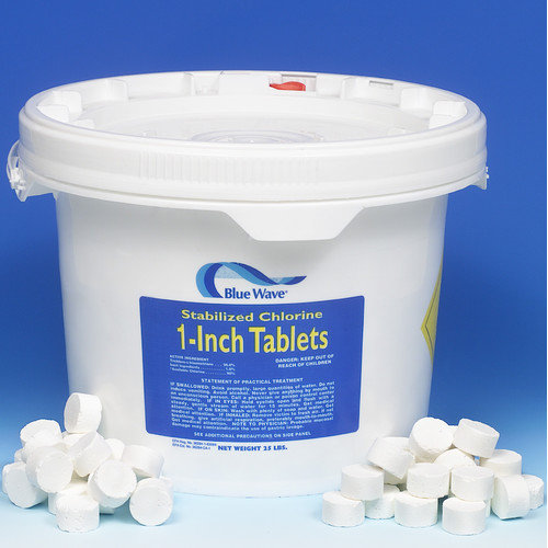 "BlueWave Products INET CHEMICALS-SANITIZERS NC124 1"" Chlorinated Tablets-50 Lbs."