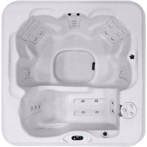 Coleman Spas 6-Person 30-Jet Lounger Spa with Easy Plug-N-Play and LED Waterfalls, Sahara
