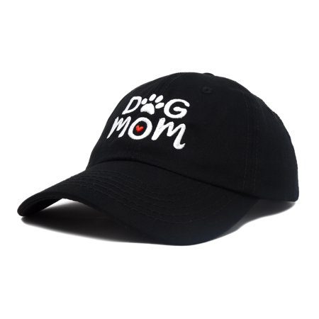 DALIX Dog Mom Baseball Cap Women's Hats Dad Hat in Black - Black Baseball Hat