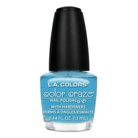 (4 Pack) LA Colors Color Craze Nail Polish, Baby Blue, 0.44