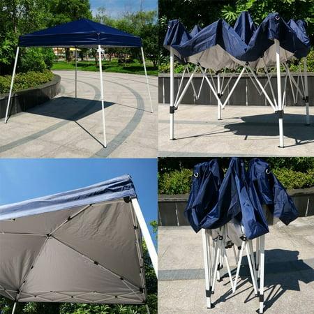 New MTN-G Blue EZ POP UP Wedding Party Tent Foldin Gazebo Beach