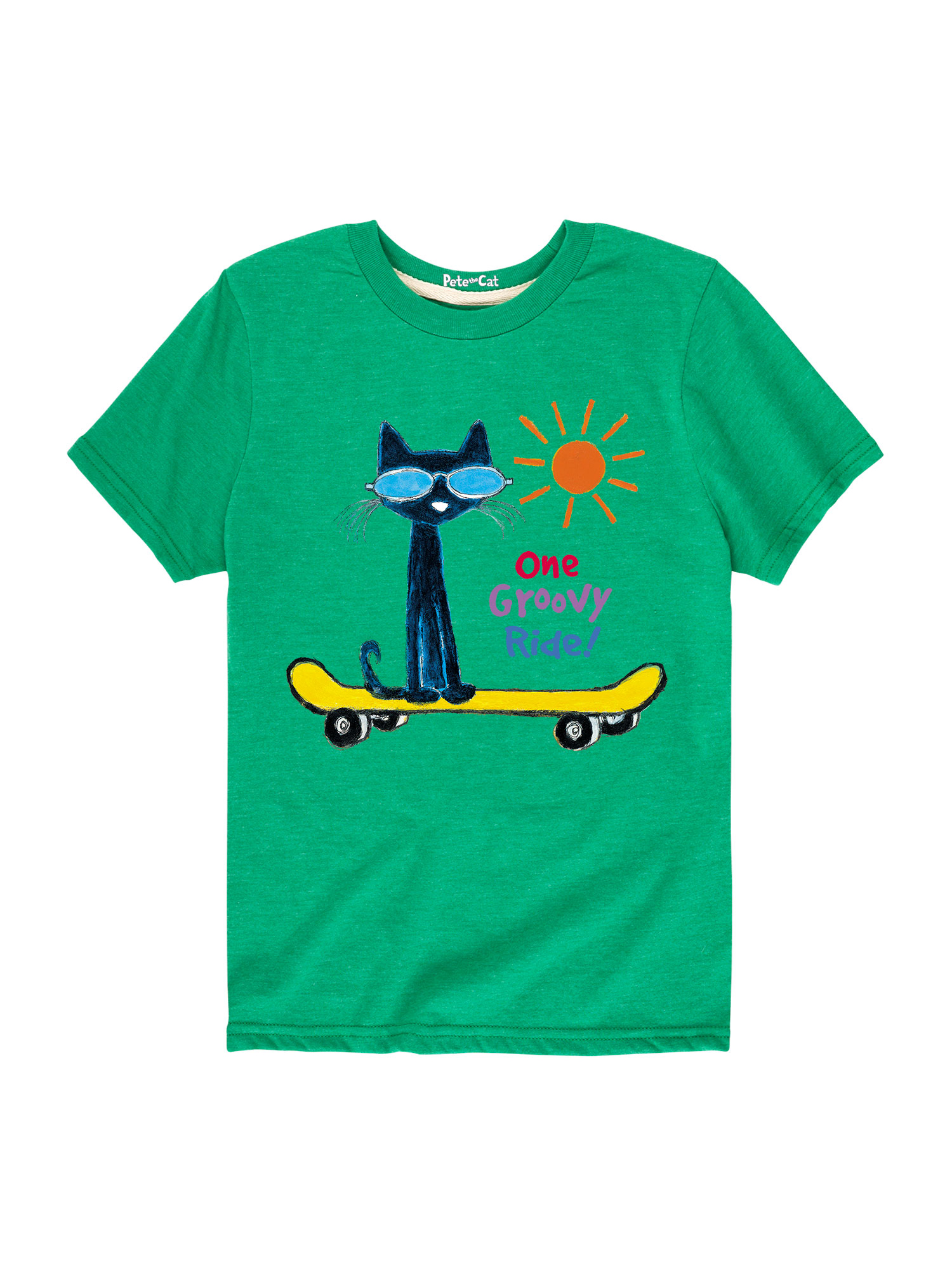 Pete The Cat One Groovey Ride  - Toddler Short Sleeve Tee