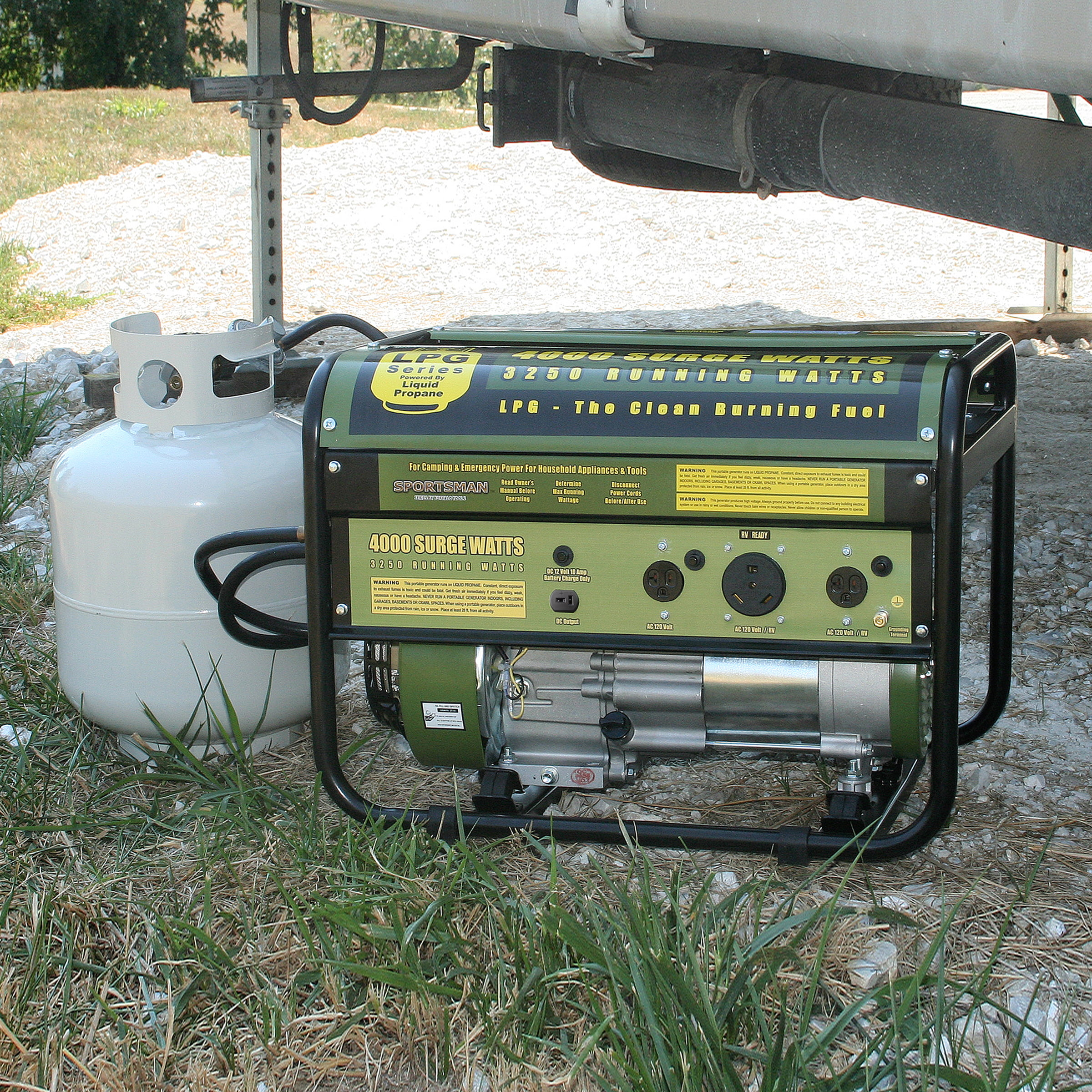 4000 Watt Lp Generator Sportsmans Series Emergency Camping Propane Ready