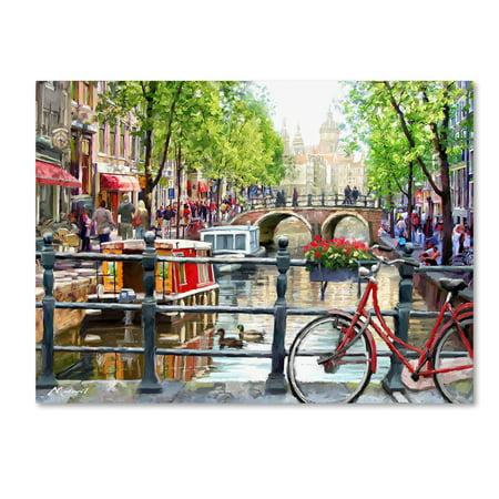 History Landscape Art - Trademark Fine Art 'Amsterdam Landscape' Canvas Art by The Macneil Studio