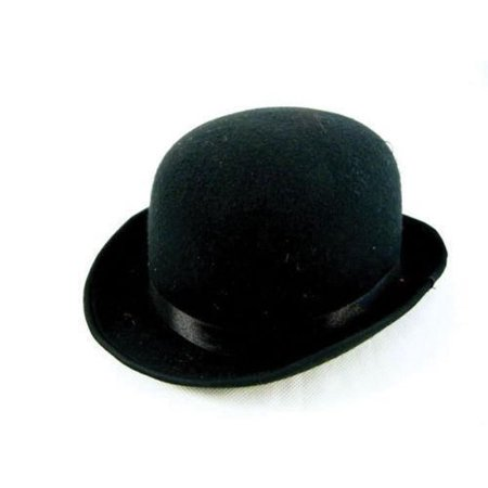 Black Deluxe Felt Derby Roaring 20's Bowler Hat Adult Costume Accessory SIZED - Halloween Parties Derby 2017