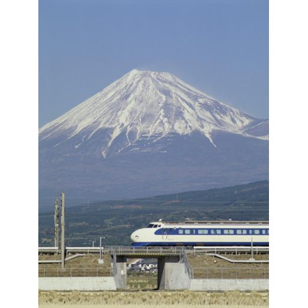 Bullet Train, Mount Fuji, Japan Print Wall Art ()