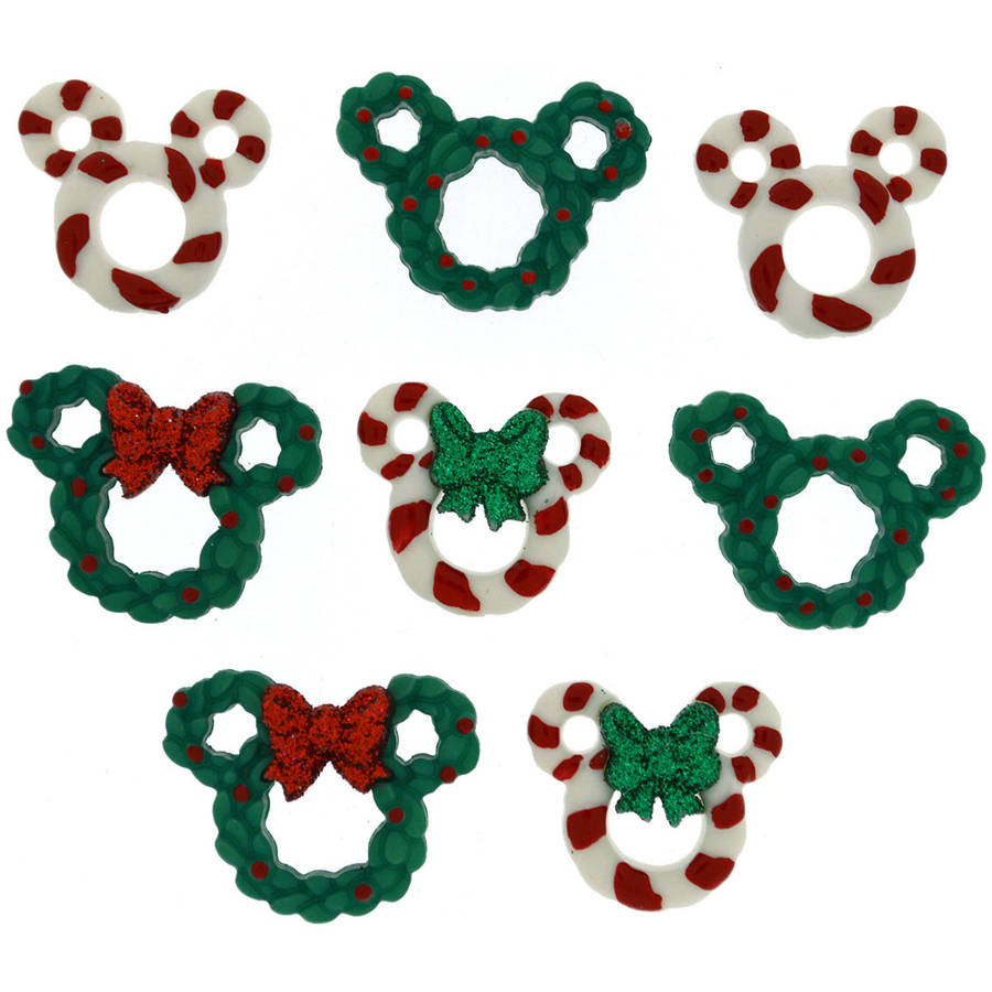 Dress It Up Licensed Embellishments, Disney Wreath and Canes