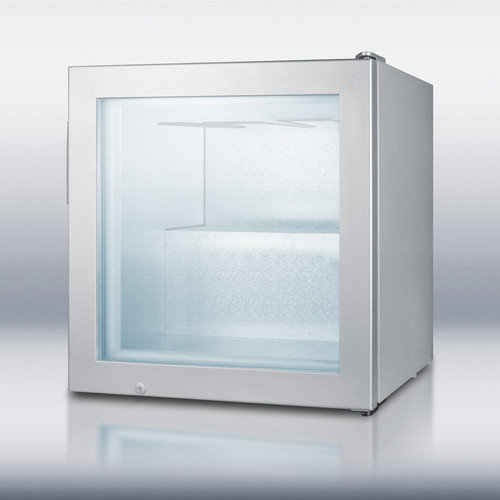 Summit Appliances SCFU386VK Compact commercial vodka freezer with self-closing glass door- Gray