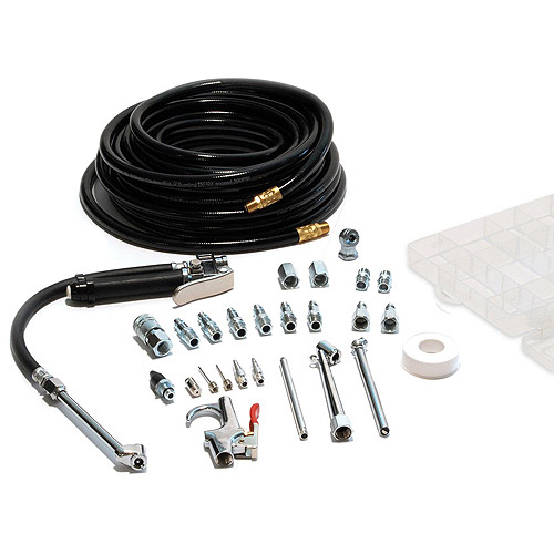 PrimeFit Garage Tire Inflator with 25-Piece Air Compressor Accessory Kit