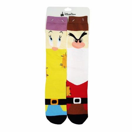 Disney Parks Snow White and the Seven Dwarfs Dopey Grumpy Disney Novelty Socks