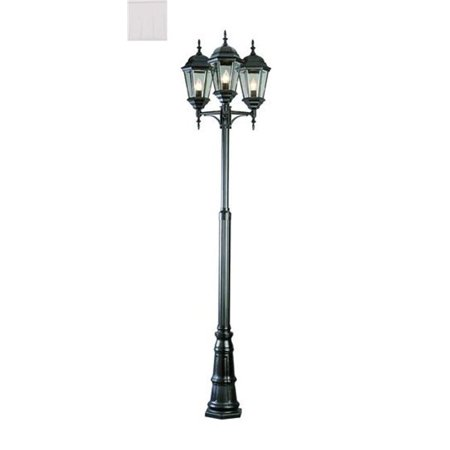 Trans Global Lighting 4995 Wh 3 Light Outdoor Post White