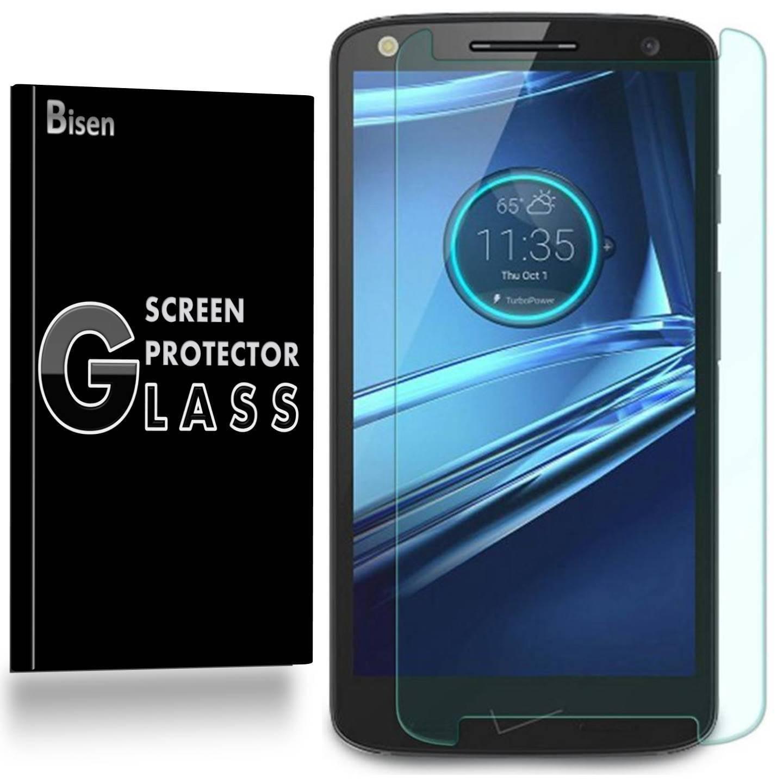 [2-Pack] Motorola Moto Droid Turbo 2 BISEN Tempered Glass Screen Protector, Anti-Scratch, Anti-Shock, Shatterproof, Bubble Free