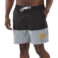 Pittsburgh Pirates G-III Sports by Carl Banks Anchor Volley Shorts - Black/Gray