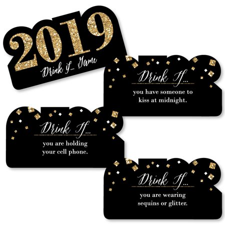 Drink If New Year's Eve - Gold - New Years Eve Party Game - Set of - New Years Eve Drinks