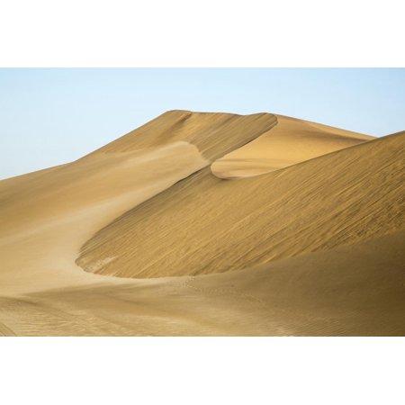 Namibia, Namib Desert. Pinwheel Pattern on Sand Dunes Print Wall Art By Wendy -