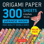 """Origami Paper 300 Sheets Japanese Washi Patterns 4"""" (10 CM): Tuttle Origami Paper: High-Quality Double-Sided Origami Sheets Printed with 12 Different Designs (Other)"""