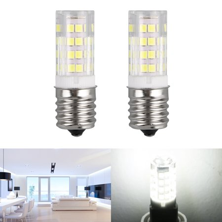 E17 4W LED Light Mini Candelabra Bulb White/Warm White Base Bulb Dimmable Ceiling Halogen Replacement (White Halogen Light Bulbs)