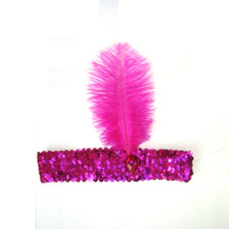 Tinymills Fashion Vintage Sequin Feather Headband 1920s Great Gatsby Flapper