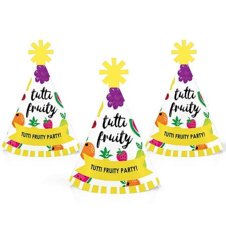 Tutti Fruity - Mini Cone Frutti Summer Party Hats - Small Little Party Hats - Set of 10](Mini Sombrero Party Hats)