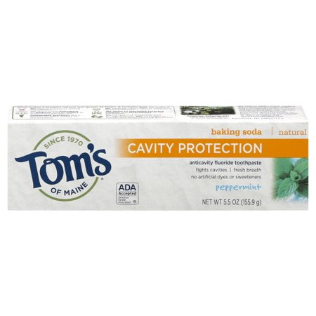 Toms Of Maine Peppermint Baking Soda Toothpaste With Fluoride (5.5 Oz)
