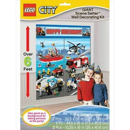 LEGO City Wall Poster Decorating Kit (5pc) - Lego Decor
