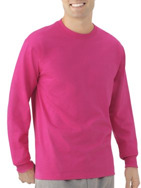 Fruit of the Loom Men's and Big Men's Platinum EverSoft Long Sleeve T-Shirt, Up To Size 4X