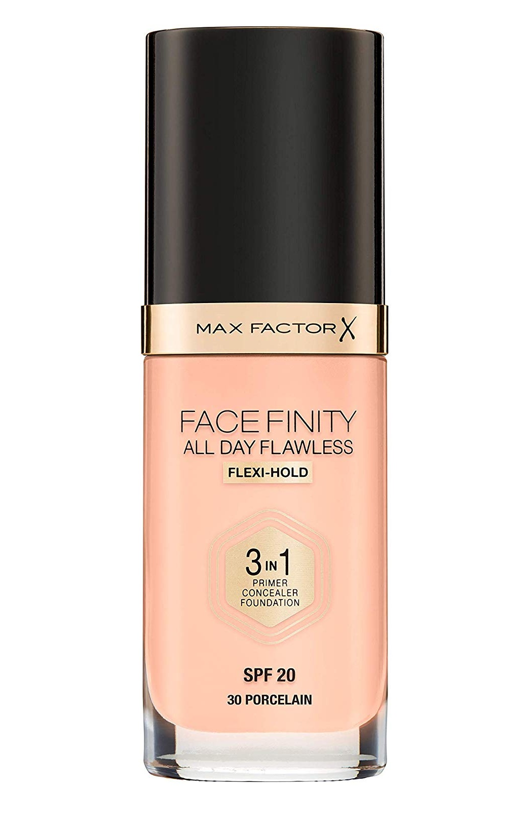 Max Factor FaceFinity All Day Flawless 3 in 1 Foundation, Primer and Concealer, SPF 20 Porcelain 30 - Walmart.com