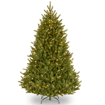 Paper Company Tree (National Tree Company 6.5 ft. Natural Fraser Medium Fir Tree with Clear Lights )