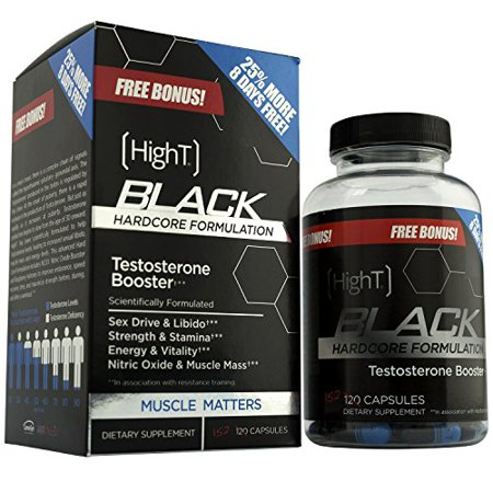 High T Black - Bestselling Testosterone Booster for Men to Build Muscle (Best Way To Build Muscle Mass For Men)