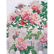Roses In Provence Counted Cross Stitch K